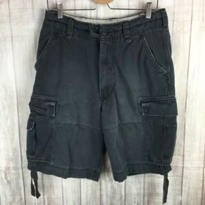 VTG Abercrombie  Fitch Mens Blue Distressed Shorts